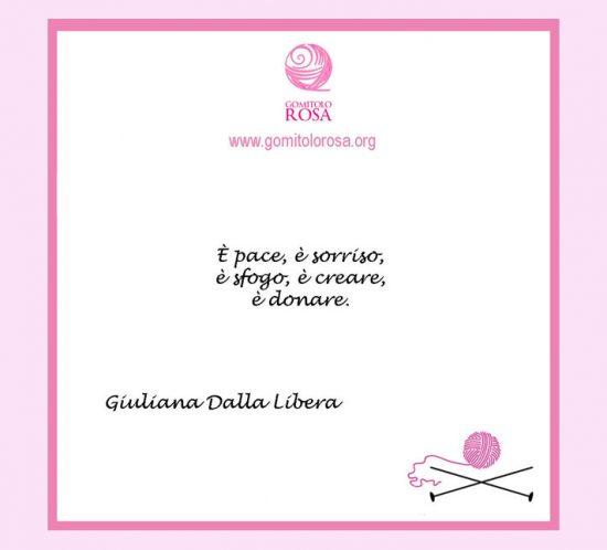 Cartolina di Gomitolo Rosa