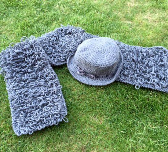 pattern cappello e sciarpa anni 20