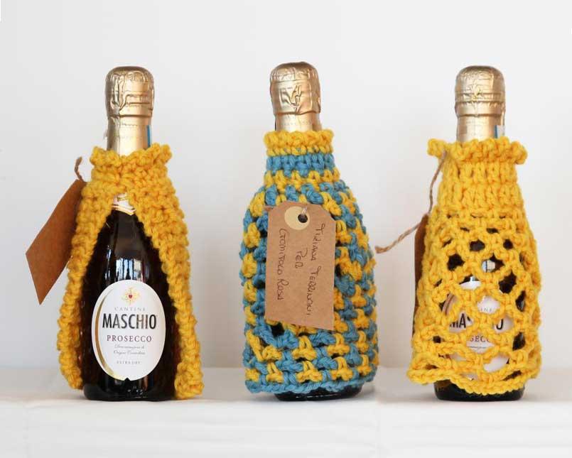 """Abitini unici """"da bottiglia"""" mini prosecco Cantine Maschio"""