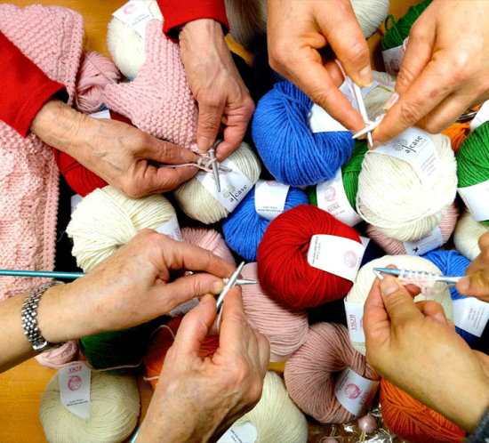 Knitting Therapy Ospedale olinette