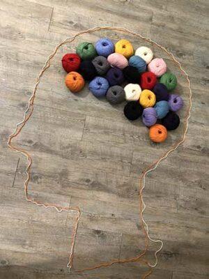 knitting yoga