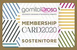 G.rosa Card Sostenitore
