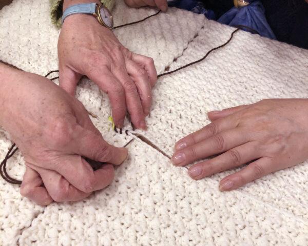Coperta Canguro - cucire insieme