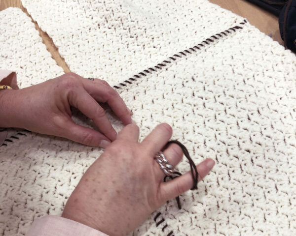 Quadrotti bianchi - Coperta Canguro